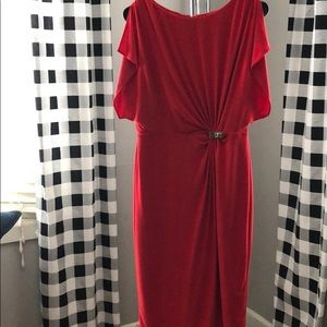 Dresses & Skirts - Red Dress with waist line detail